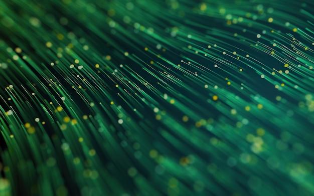Fundo abstrato com o movimento de partículas luminosas conceito de conexão de tecnologia digital