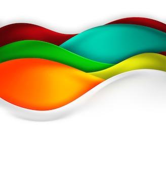 Fundo abstrato com ondas multicoloridas