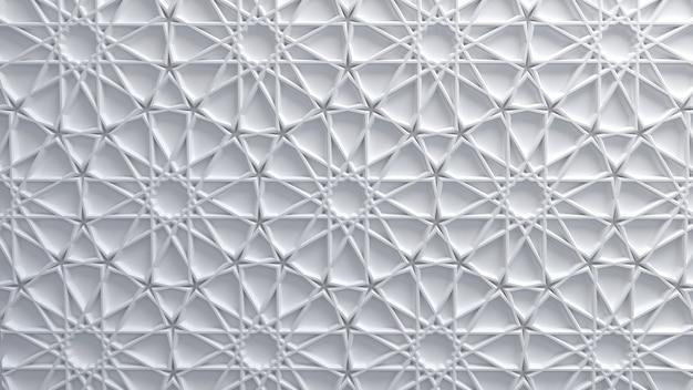 Fundo abstrato com padrão girih árabe branco