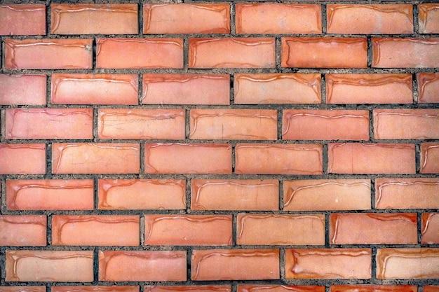 Fundo abstrato com parede de tijolo vermelho. fundo grunge texturizado para espaço de cópia