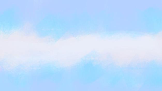 Fundo abstrato com pincel de arte moderna pintando azul claro gradiente cor pastel