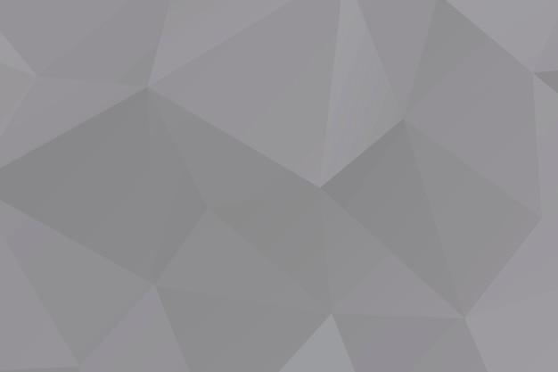 Fundo abstrato com polígono em mosaico cinza