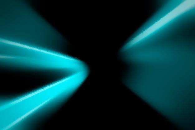 Fundo abstrato com raios de néon azul