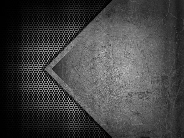 Fundo abstrato com texturas de metal