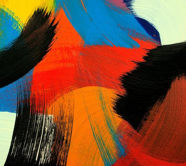 Fundo abstrato cores acrílicas pintando na tela feito à mão obras de arte artísticas