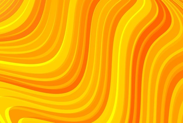 Fundo abstrato da curva de cor laranja