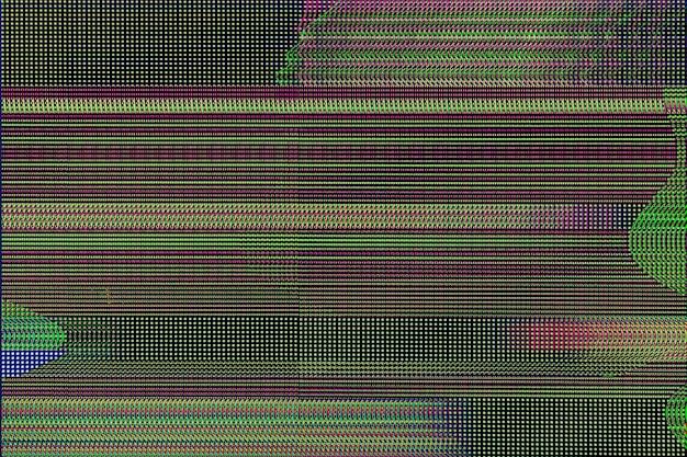 Fundo abstrato da falha, conceito do erro do pulso aleatório.