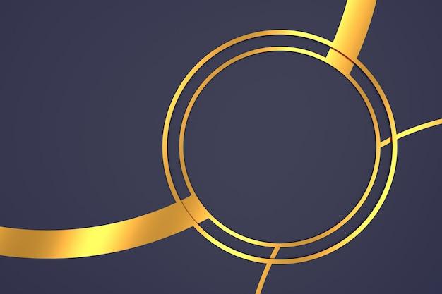 Fundo abstrato da forma de círculo com conceitos de luxo em renderização 3d