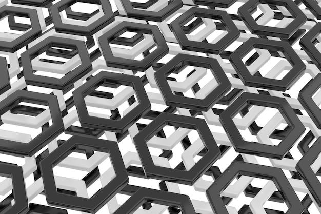 Fundo abstrato da forma do hexágono. renderização 3d.