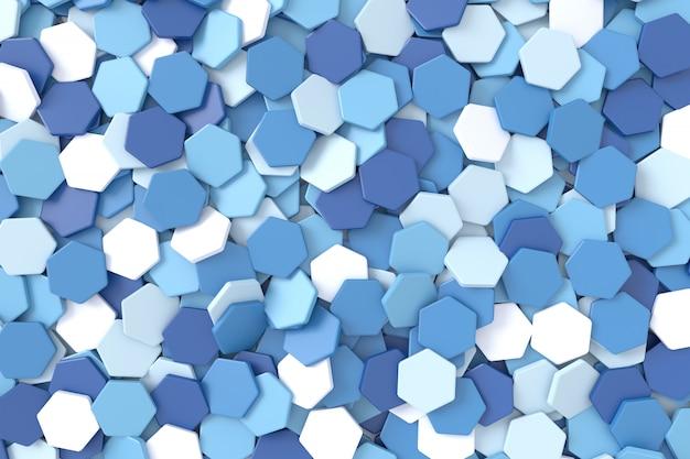 Fundo abstrato da forma do hexágono. renderização em 3d.