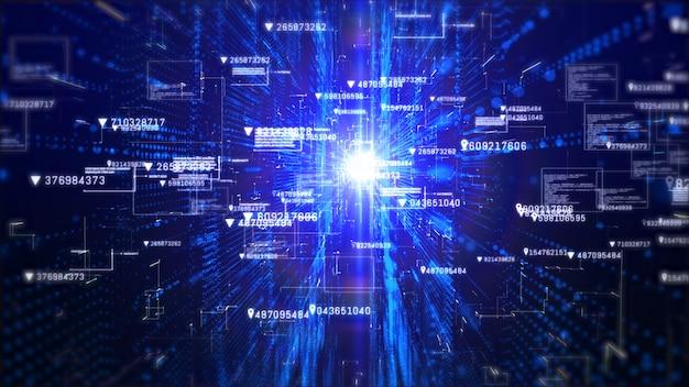 Fundo abstrato da informação holográfica da exposição digital alta tecnologia