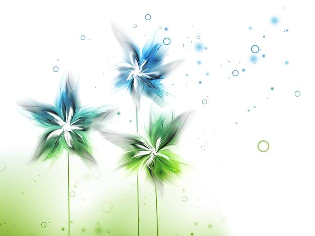 Fundo abstrato da natureza com flores
