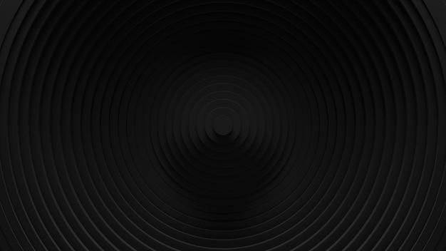 Fundo abstrato da oscilação das cortinas circulares. . superfície ondulada de anéis 3d. deslocamento de elementos geométricos.
