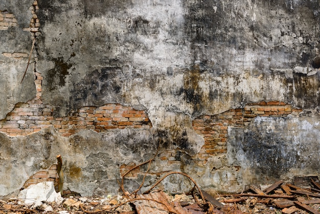 Fundo abstrato da parede da ruína