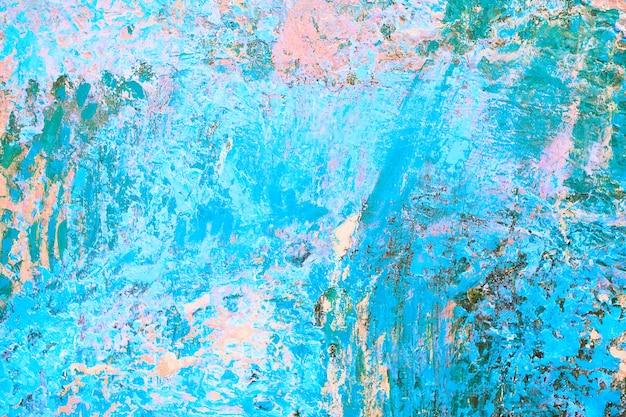 Fundo abstrato da pintura a óleo. óleo sobre tela. pintura a óleo desenhada à mão. textura de cor. pinceladas de tinta. arte moderna. arte contemporânea. tela colorida. gotas de aquarela