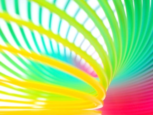 Fundo abstrato da primavera espiral arco-íris