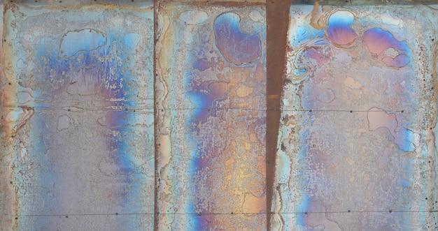 Fundo abstrato da textura da corrosão na chapa de aço chapeada de cobre