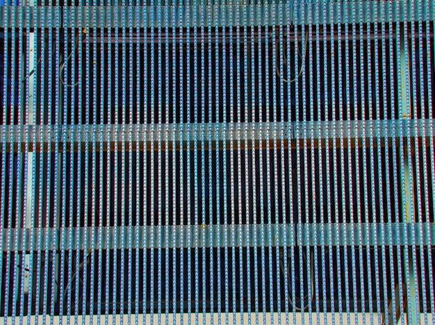 Fundo abstrato das lâmpadas led de tela azul
