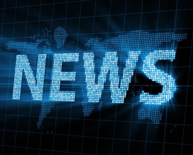 Fundo abstrato das notícias mundiais com raios brilhantes