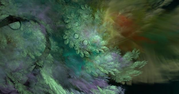 Fundo abstrato de algas fractal