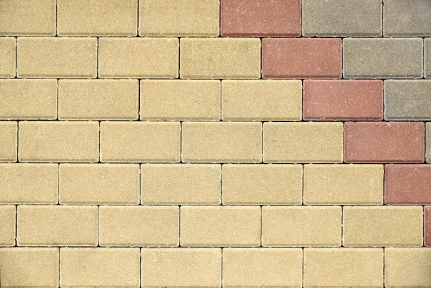 Fundo abstrato de alvenaria com tijolos decorativos leves