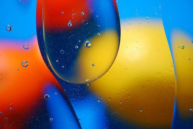 Fundo abstrato de bolhas coloridas na superfície da água e do petróleo para seu projeto.