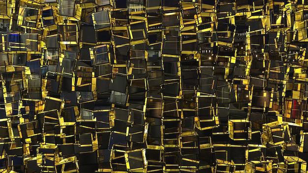 Fundo abstrato de caixa quadrada preta