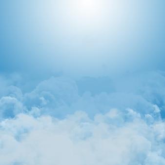 Fundo abstrato de céu ensolarado azul com nuvens