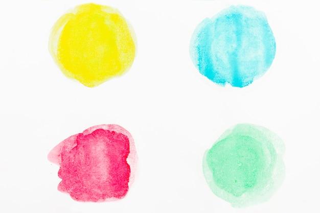 Fundo abstrato de círculos em aquarela