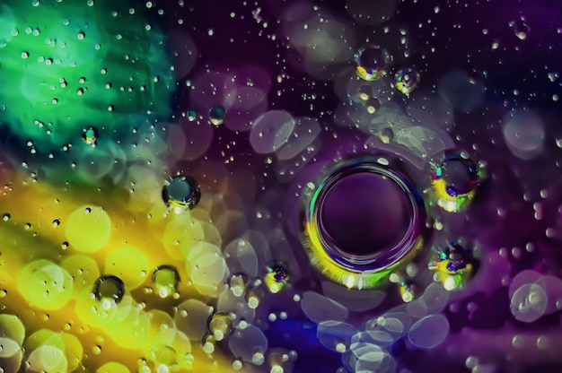 Fundo abstrato de círculos multicoloridos