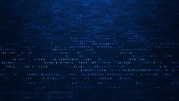 Fundo abstrato de código binário.