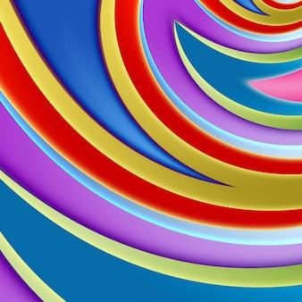 Fundo abstrato de cor brilhante, formas suaves e geometria