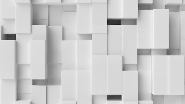 Fundo abstrato de cubo branco
