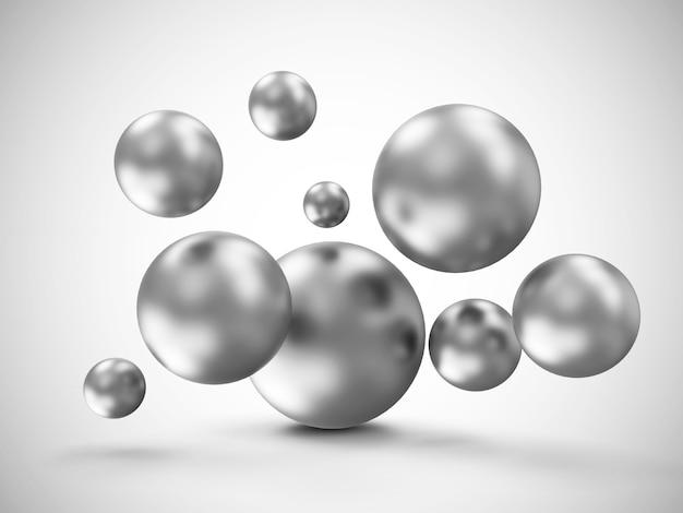 Fundo abstrato de esferas de metal