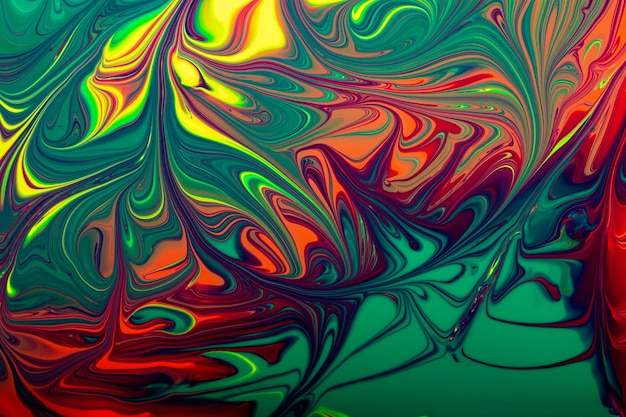 Fundo abstrato de esmalte multicolorido conceito de maquiagembonitas manchas de lacas líquidas de unha