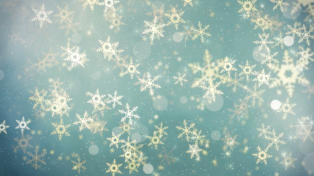 Fundo abstrato de flocos de neve de natal