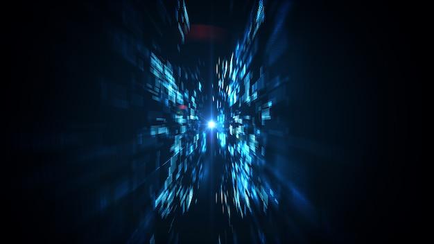 Fundo abstrato de grande volume de dados de tecnologia