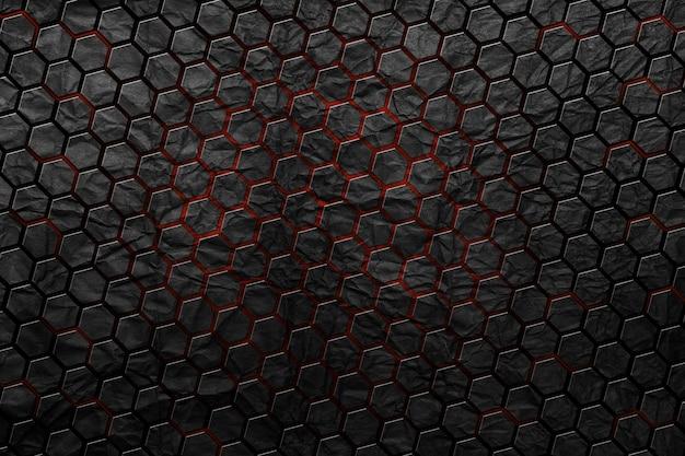 Fundo abstrato de hexágono de tecnologia