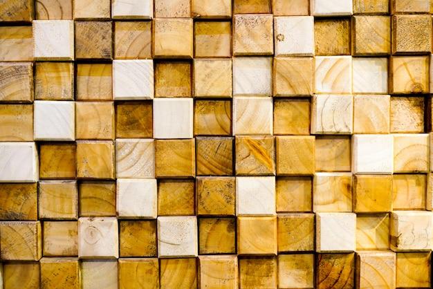 Fundo abstrato de madeira quadrada