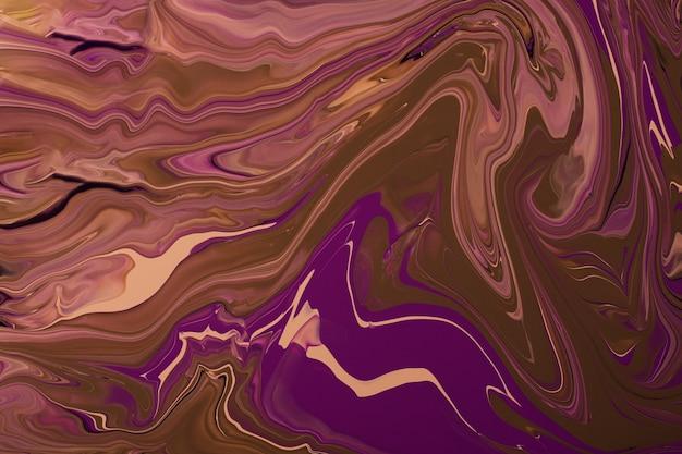 Fundo abstrato de mármore multicolorido caramelo e roxo conceito de composição