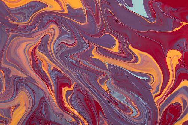 Fundo abstrato de mármore multicolorido e neutro conceito de maquiagembeautiful manchas esmaltes líquidos para unhas