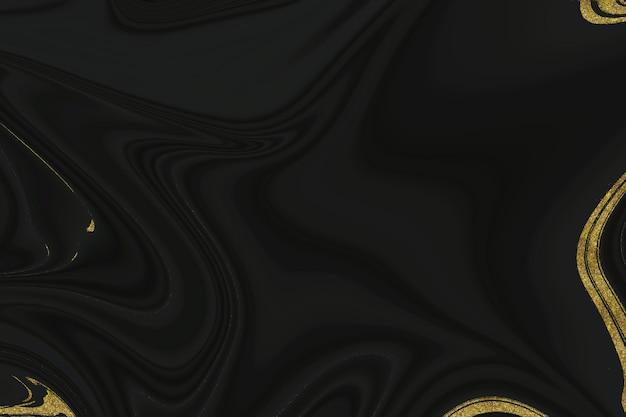 Fundo abstrato de mármore preto e dourado