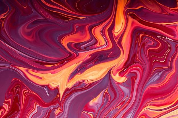 Fundo abstrato de mármore rosa de framboesa conceito de maquiagembonitas manchas de esmaltes líquidos para unhas