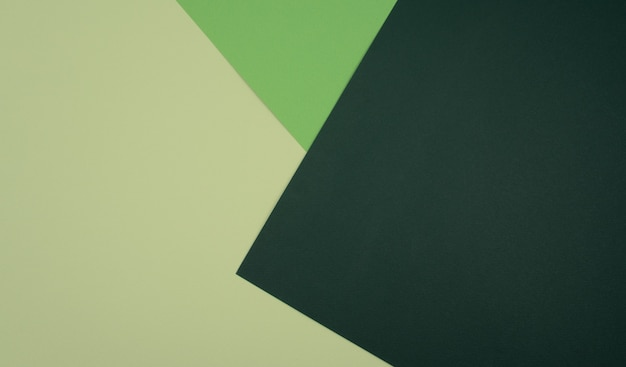 Fundo abstrato de papel geométrico em branco de cor bege claro e verde escuro