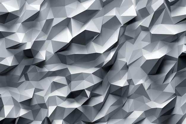 Fundo abstrato de tringles dimesional da cinza três.