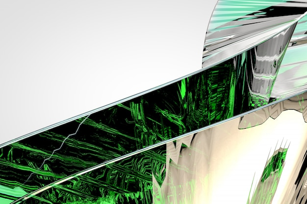 Fundo abstrato de vidro verde