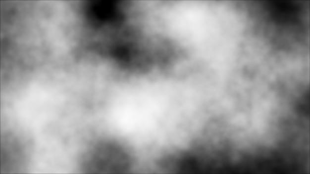 Fundo abstrato digital preto com as nuvens brancas da névoa.