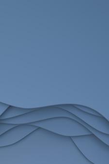 Fundo abstrato do banner da arte do corte de papel cinza