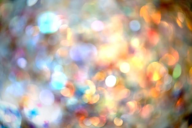 Fundo abstrato do borrado da luz da noite. cenário de festa de férias e celebração.