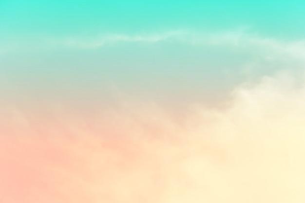 Fundo abstrato do céu na cor doce.